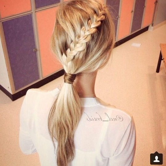 15 Hottest Braided Hairstyles – Popular Haircuts With Pony Hairstyles With Textured Braid (View 22 of 25)