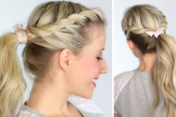 15 Interesting Twisted Hairstyles For Girls – Pretty Designs Inside Straight High Ponytail Hairstyles With A Twist (View 2 of 25)