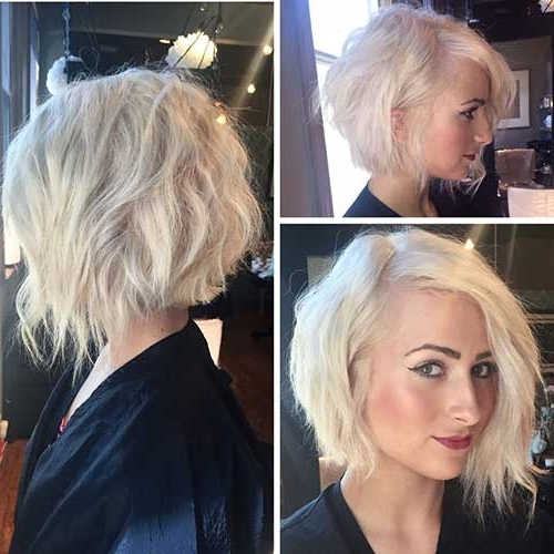 15+ Inverted Bob Hair Styles | Bob Hairstyles 2018 – Short In Curly Angled Blonde Bob Hairstyles (View 5 of 25)