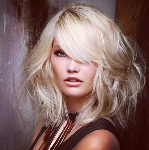 15 Latest Long Bob With Side Swept Bangs | Bob Hairstyles 2018 With Regard To Blonde Lob Hairstyles With Sweeping Bangs (View 7 of 25)