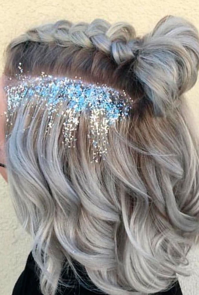 15 Pretty Prom Hairstyles For Short Hair   Hair Color   Pinterest With Glitter Ponytail Hairstyles For Concerts And Parties (View 11 of 25)