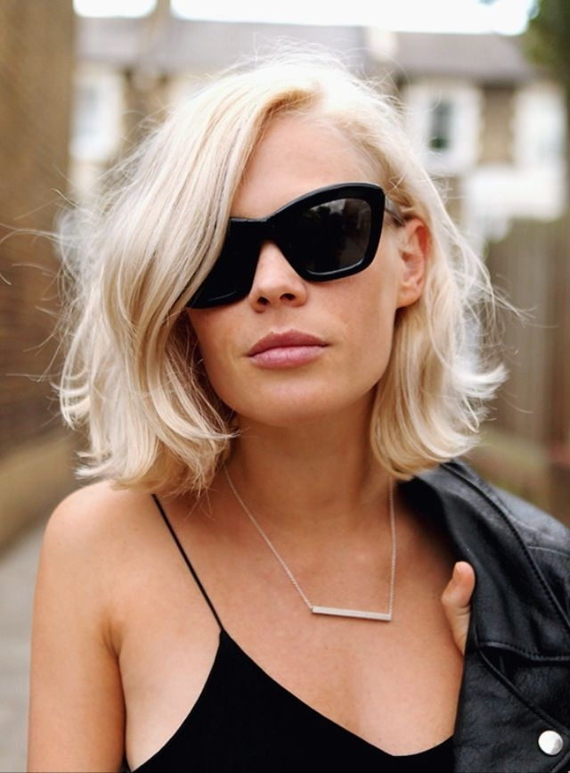 15 Stylish Bob Designs For The Season | Hair | Pinterest | Curly Throughout White Blunt Blonde Bob Hairstyles (View 2 of 25)