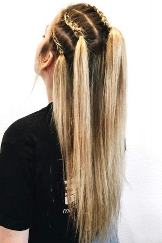 15 Summer Half Up Half Down Ponytail Trends You`ll Love – My Stylish Zoo Inside Midi Half Up Half Down Ponytail Hairstyles (View 11 of 25)