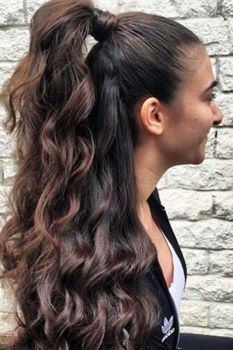 15 Summer Half Up Half Down Ponytail Trends You`ll Love – My Stylish Zoo Pertaining To Half Up Half Down Ponytail Hairstyles (View 22 of 25)