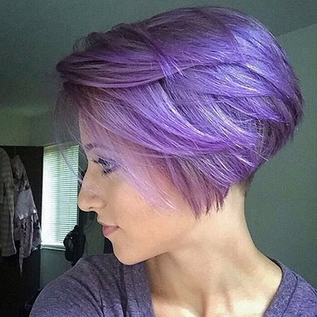 15 Super Hair Colors For Short Bob Hairstyles – Hair Colour Style Within Latest Lavender Pixie Bob Hairstyles (View 17 of 25)
