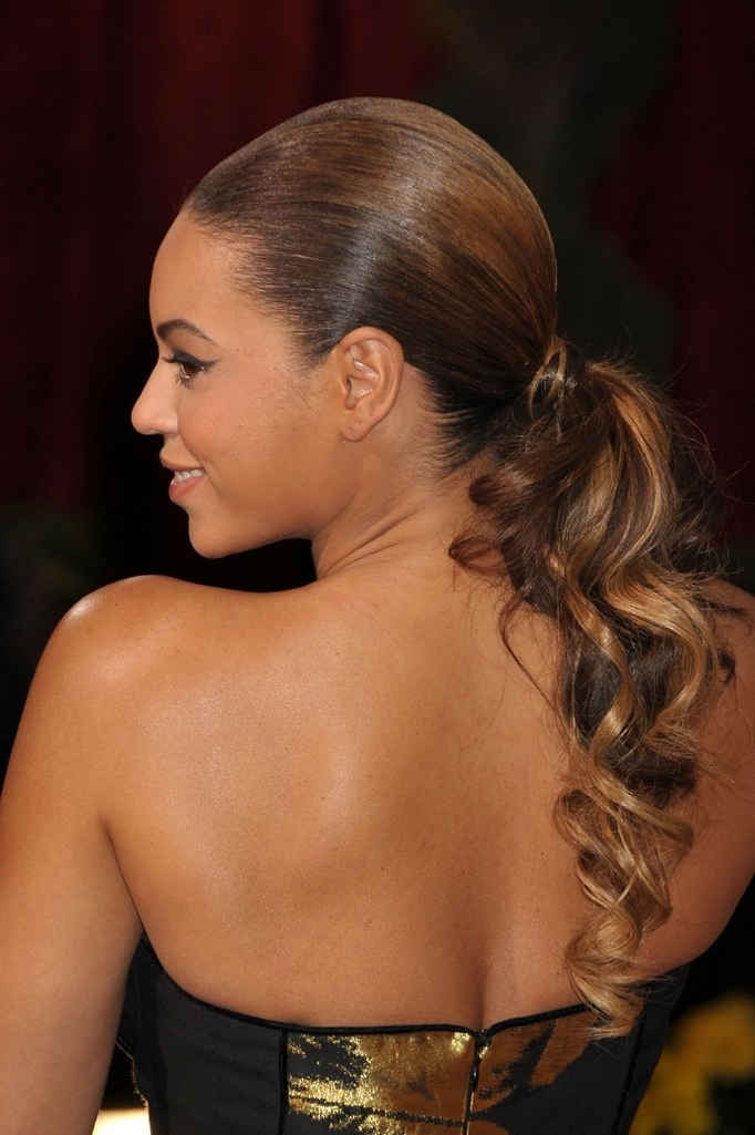 15 Ways To Dress Up Your Ponytail For A Party | Glamour Intended For Super Sleek Ponytail Hairstyles (View 1 of 25)