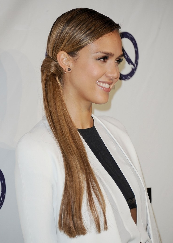 15 Ways To Dress Up Your Ponytail For A Party | Glamour Pertaining To Glamorous Pony Hairstyles (View 6 of 25)