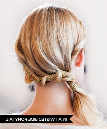 15 Ways To Wear Hair Ribbons | Pinterest | Side Ponytails, Ponytail Throughout Braided Headband And Twisted Side Pony Hairstyles (View 1 of 25)