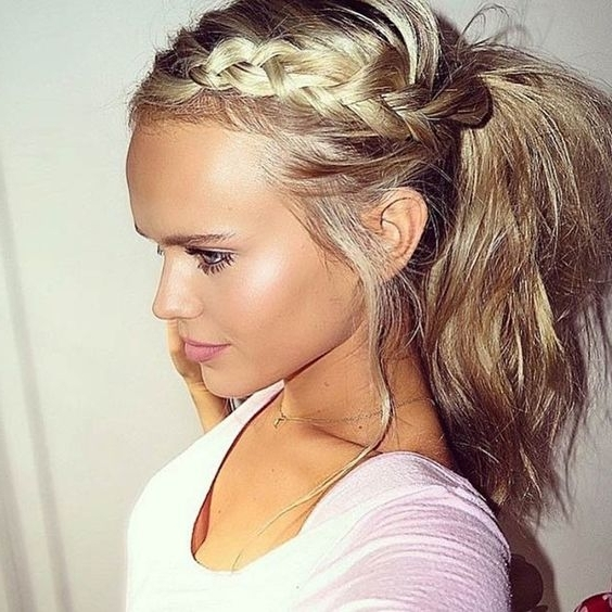 16 Beautiful Braided Ponytail Hairstyles For Different Occasions Regarding Long Braided Ponytail Hairstyles (View 15 of 26)