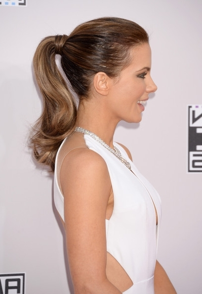 16 Fashionable And Beautiful Ponytail Hairstyles & Makeup Looks For Inside Lively And Lovely Low Ponytail Hairstyles (View 15 of 25)