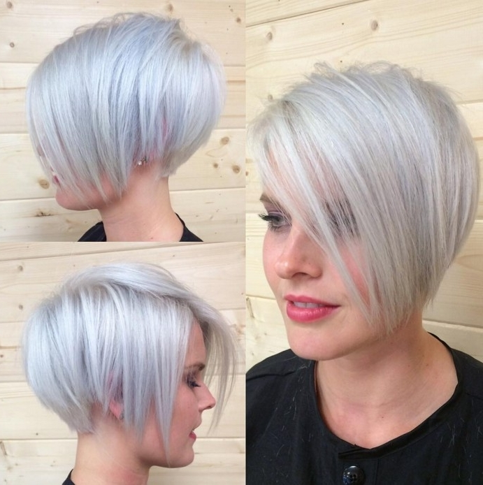 16 Latest Popular Short Pixie Cuts For Fine Hair – Pretty Designs With Regard To Platinum And Purple Pixie Blonde Hairstyles (View 25 of 25)