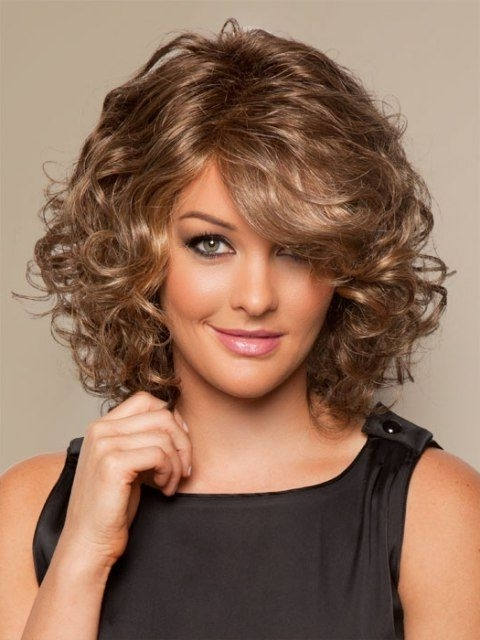 16 Must Try Shoulder Length Hairstyles For Round Faces | Hair Ideas Throughout Medium Blonde Bob With Spiral Curls (View 6 of 25)