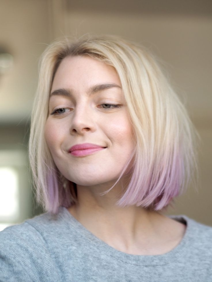 168 Best Hair #2 Images On Pinterest | Hairstyles, Short Hair And Hair Throughout Blonde Bob Hairstyles With Lavender Tint (View 22 of 25)