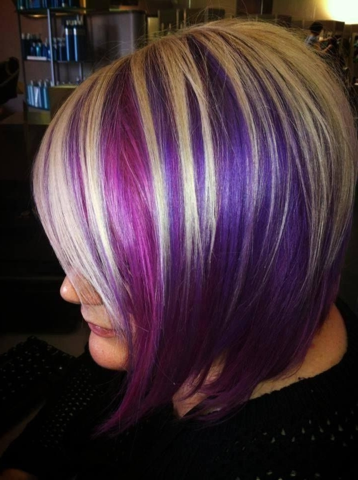 17 Best Lavender Highlights Images On Pinterest Beautiful Blonde And With Blonde Bob Hairstyles With Lavender Tint (View 6 of 25)