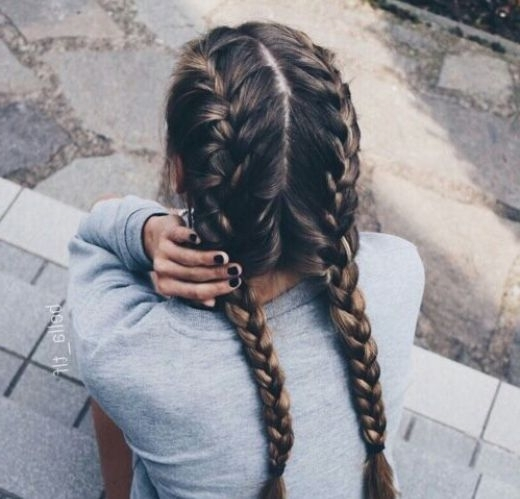 17 Chic Double Braided Hairstyles | Gorgeous Hair | Pinterest Inside Double Braided Hairstyles (View 2 of 25)