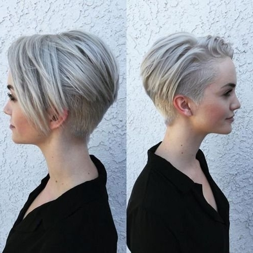 17 New Shaved Bob Hairstyles Ideas | Hairstyles Ideas Intended For Current Pixie Bob Hairstyles With Temple Undercut (View 20 of 25)