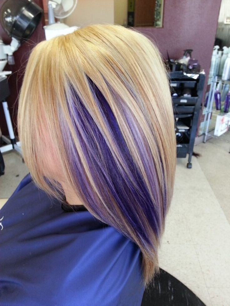 17 Stylish Hair Color Designs: Purple Hair Ideas To Try! – Popular With Blonde Bob Hairstyles With Lavender Tint (View 7 of 25)