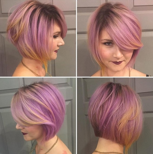 18 Beautiful Short Hairstyles For Round Faces 2016 – Pretty Designs For Latest Lavender Pixie Bob Hairstyles (View 16 of 25)
