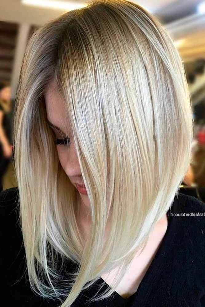 18 Classy And Fun A Line Haircut Ideas – Hairstyles For Any Woman With Steeply Angled A Line Lob Blonde Hairstyles (View 8 of 25)