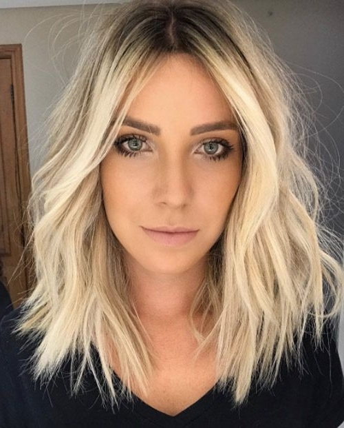 18 Cool Lob Hairstyles To See Before Going Back To School – Gurl In Tousled Beach Babe Lob Blonde Hairstyles (View 21 of 25)