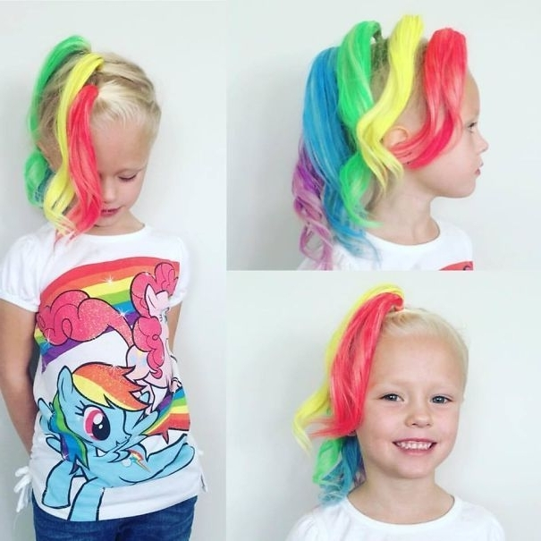 18 Crazy Hair Day Ideas For Girls & Boys | Crazy Hairstyle Throughout Dyed Simple Ponytail Hairstyles For Second Day Hair (View 7 of 25)