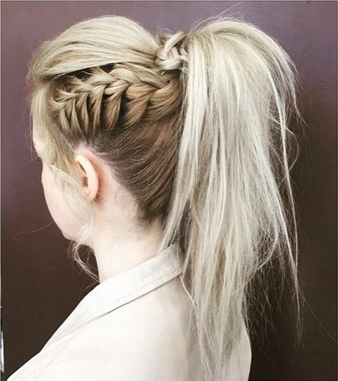 Featured Photo of Pony Hairstyles With Textured Braid