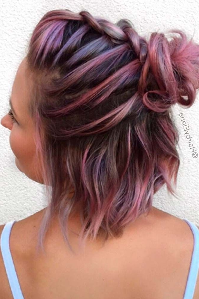 18 Dazzling Ideas Of Braids For Short Hair In 2018 | Hair With Regard To Brunette Macrame Braid Hairstyles (View 3 of 25)