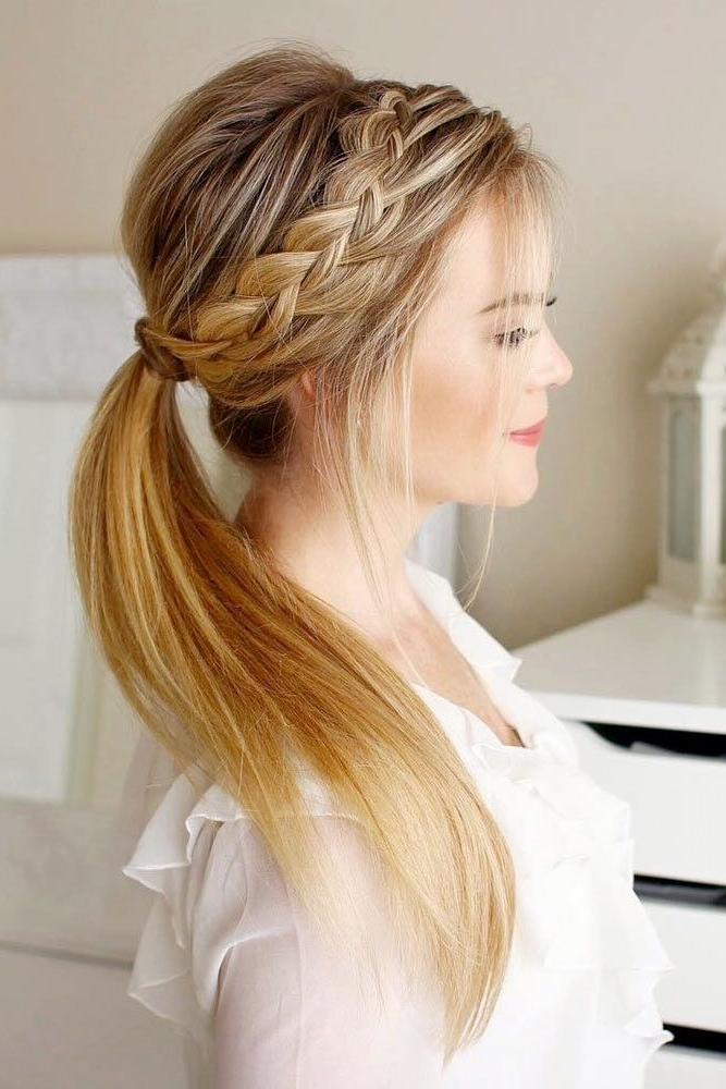 18 Easy Long Hairstyles For Valentine's Day | Hair Doooo | Pinterest In Dyed Simple Ponytail Hairstyles For Second Day Hair (View 3 of 25)
