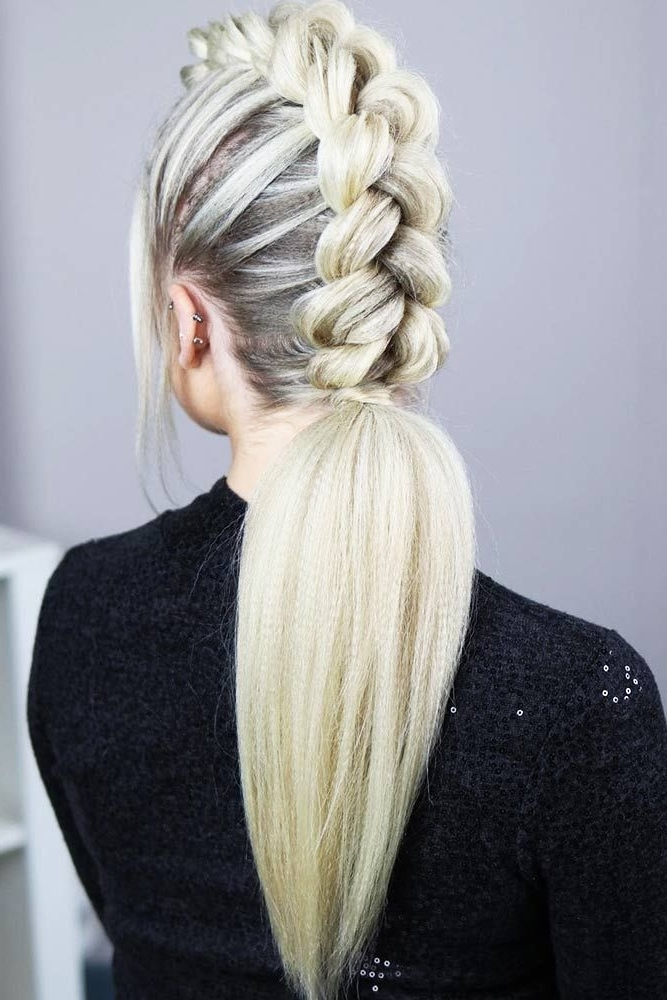 18 Girly Braided Mohawk Ideas To Keep Up With Trends | Braided With Braided Ponytail Mohawk Hairstyles (View 2 of 25)