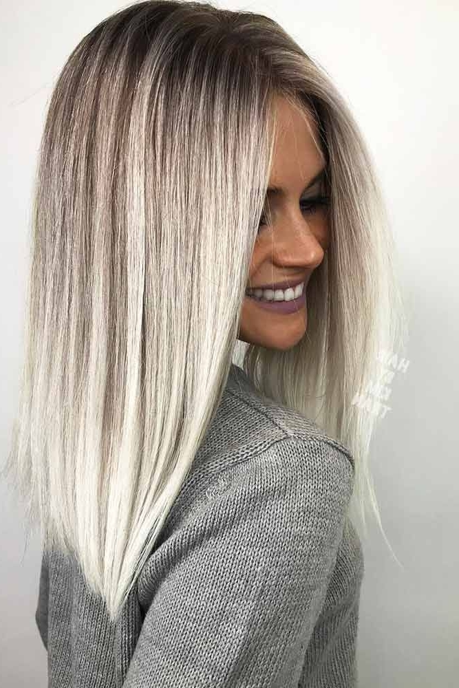 18 Inspiring Long Bob Hairstyle Ideas | ?????? ?????? | Pinterest Throughout Ombre Ed Blonde Lob Hairstyles (View 3 of 25)