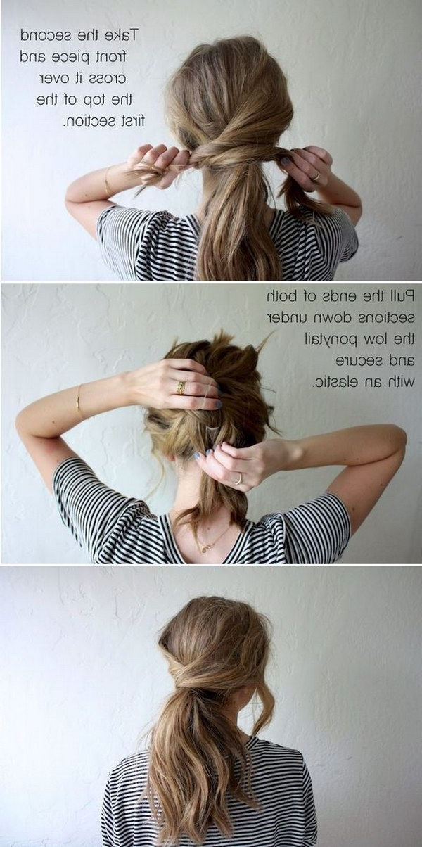 18 Messy Ponytail Tutorials For Effortlessly Chic Hair | Hair In Pretty Messy Pony Hairstyles With Braided Section (View 23 of 25)