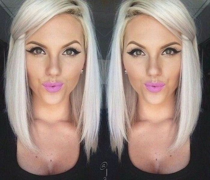 18 Perfect Lob (Long Bob) Hairstyles For 2018 – Easy Long Bob Hairstyles Inside Sleek White Blonde Lob Hairstyles (View 21 of 25)