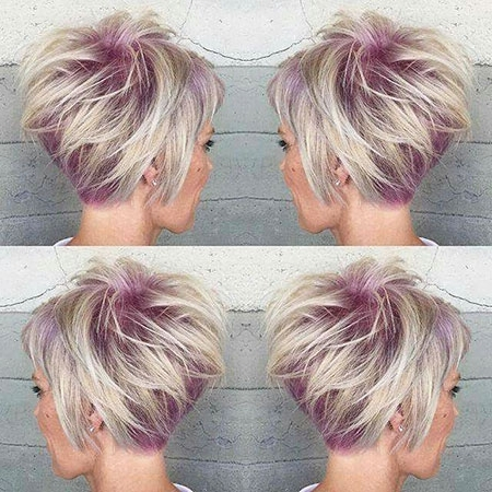 18 Short Blonde Purple Hair Color – Blonde Hairstyles 2017 With Regard To Platinum And Purple Pixie Blonde Hairstyles (View 22 of 25)