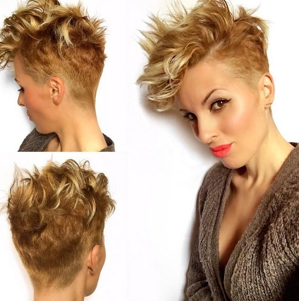 18 Short Hairstyles Perfect For Fine Hair – Popular Haircuts Intended For 2018 Tousled Pixie Hairstyles With Undercut (View 22 of 25)