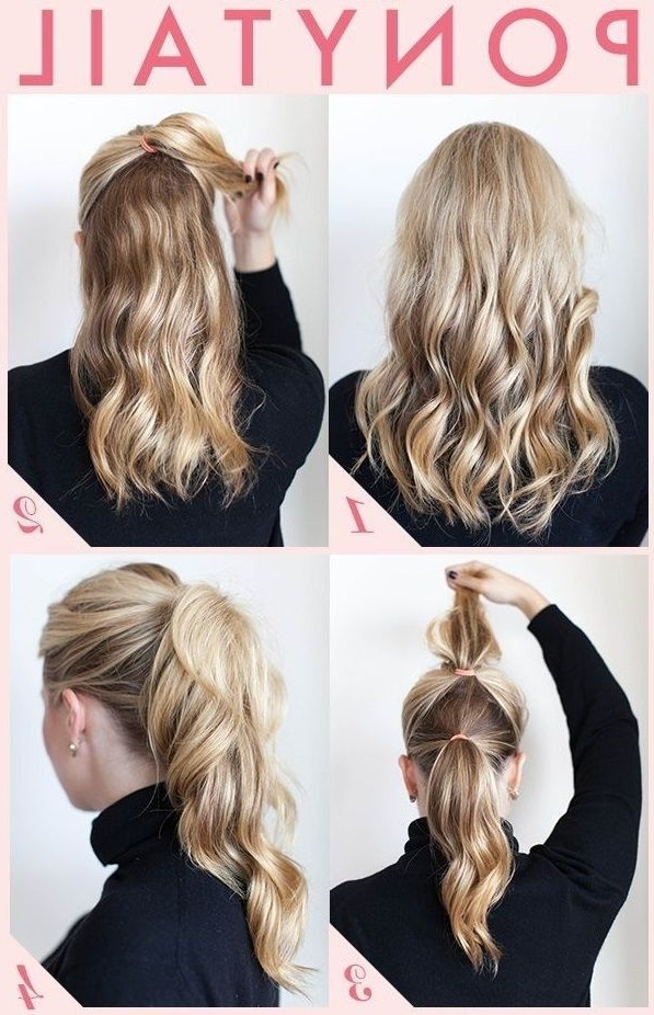 18 Simple Office Hairstyles For Women: You Have To See | Hair For Easy High Pony Hairstyles For Curly Hair (View 7 of 25)