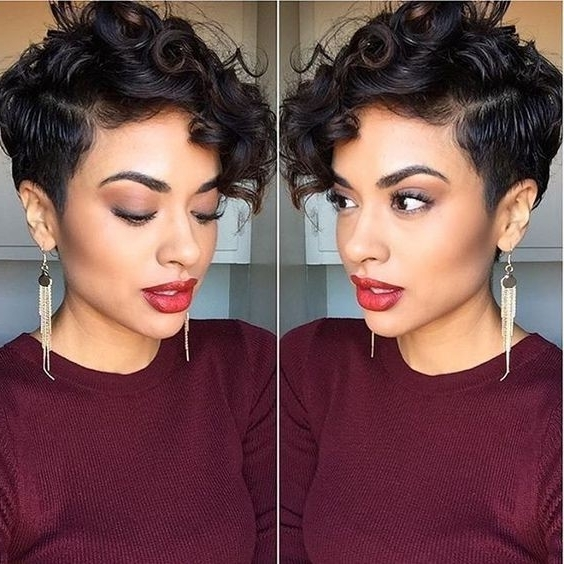 18 Textured Styles For Your Pixie Cut – Popular Haircuts With Regard To Most Current Sassy Undercut Pixie Hairstyles With Bangs (View 11 of 25)