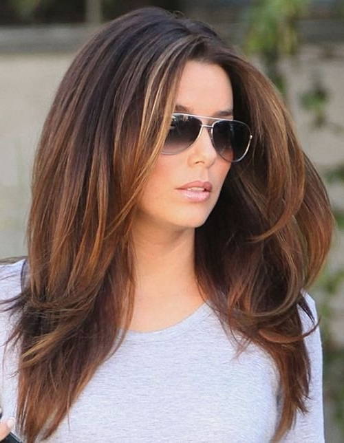 18 Unique Brunette Hairstyles Medium Length Ideas | Hairstyles Ideas For Tousled Shoulder Length Ombre Blonde Hairstyles (View 12 of 25)
