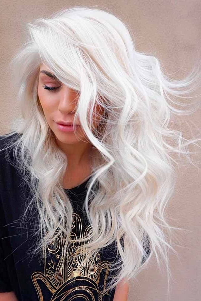 18 White Blonde Hair Ideas To Try Out | Snow White | Pinterest Regarding White Blonde Curls Hairstyles (View 11 of 25)