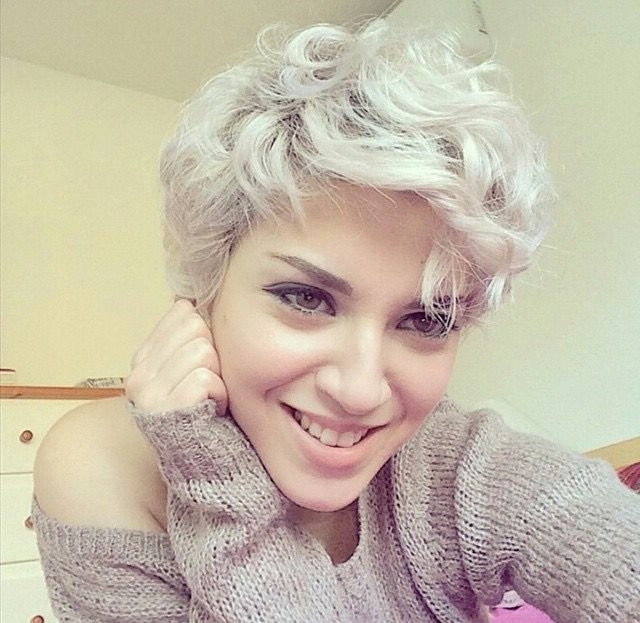 19 Cute Wavy & Curly Pixie Cuts We Love – Pixie Haircuts For Short Inside White Blonde Curls Hairstyles (View 22 of 25)