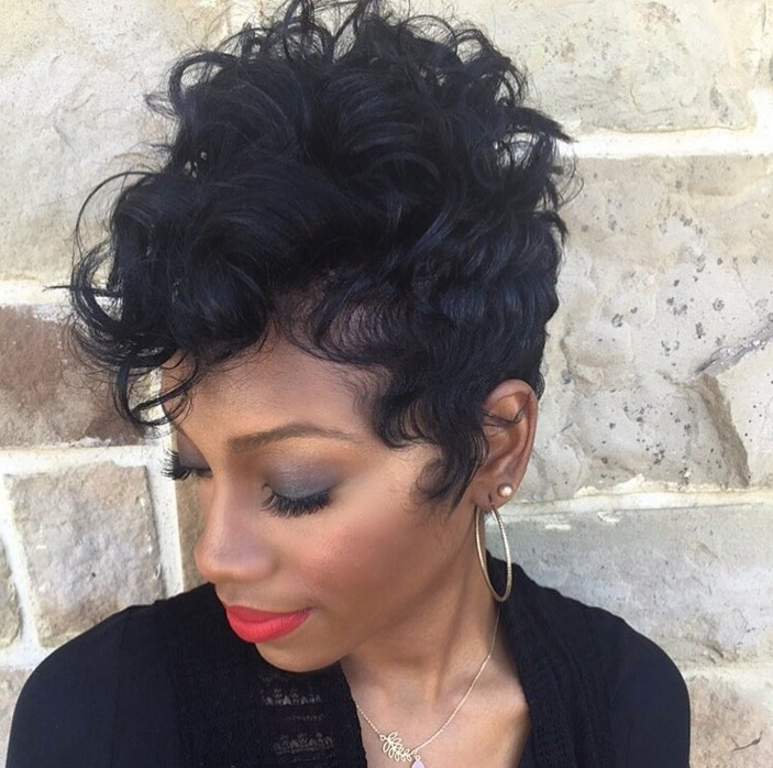 19 Cute Wavy & Curly Pixie Cuts We Love – Pixie Haircuts For Short Throughout Recent Short Black Pixie Hairstyles For Curly Hair (View 3 of 25)