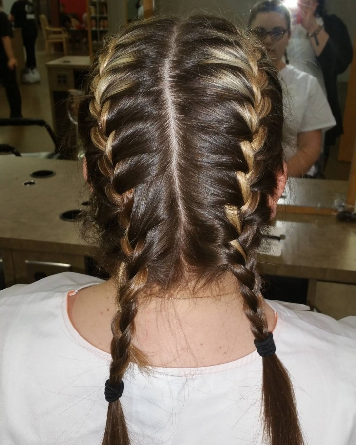 19+ Double French Braid Hairstyle Ideas, Designs | Design Trends With Regard To Double Braided Hairstyles (View 14 of 25)