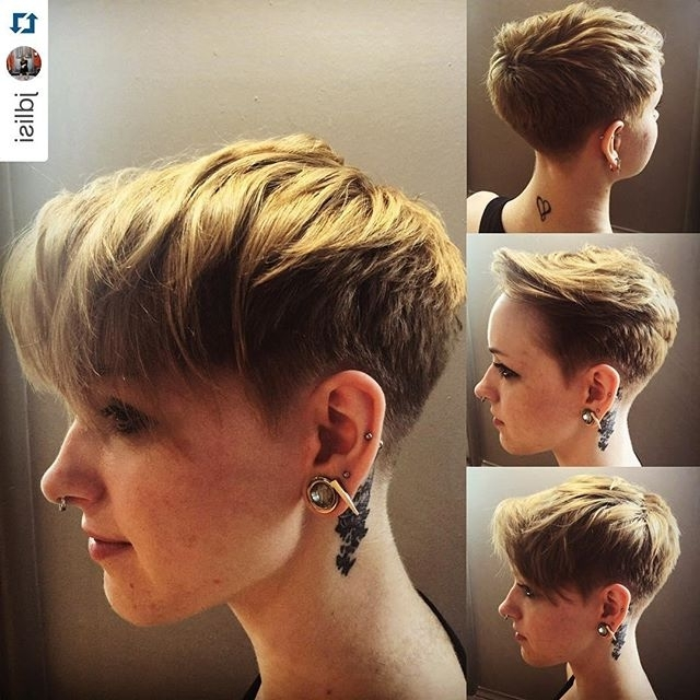 19 Incredibly Stylish Pixie Haircut Ideas – Short Hairstyles For 2018 For 2018 Stacked Pixie Hairstyles With V Cut Nape (View 11 of 25)