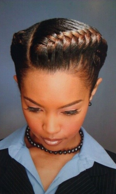 19 More Big Cornrow Styles To Feast Your Eyes On   The Natural Pertaining To Pony Hairstyles With Curled Bangs And Cornrows (View 3 of 25)