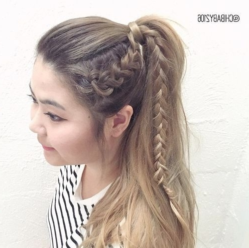 19 Pretty Ways To Try French Braid Ponytails – Pretty Designs Pertaining To Large And Loose Braid Hairstyles With A High Pony (View 8 of 25)