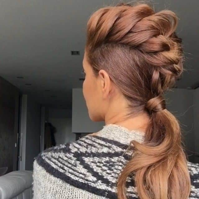 19 Stunning Braided Ponytail Hairstyles For Women Inside Braided Ponytail Mohawk Hairstyles (View 24 of 25)