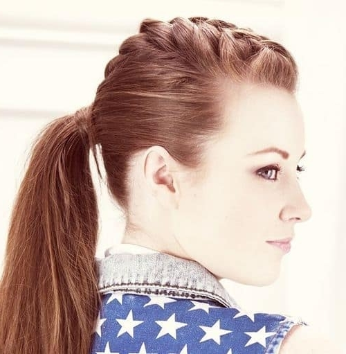 19 Stunning Braided Ponytail Hairstyles For Women Regarding Punky Ponytail Hairstyles (View 2 of 25)