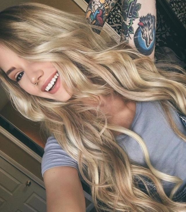 190 Best Blonde Balayage Images On Pinterest | Hair Ideas, Blondes With Soft Flaxen Blonde Curls Hairstyles (View 9 of 25)