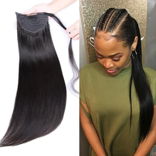 1Pc Virgin Human Hair Sleek Ponytail Easy To Wear With Regard To Super Sleek Ponytail Hairstyles (View 2 of 25)