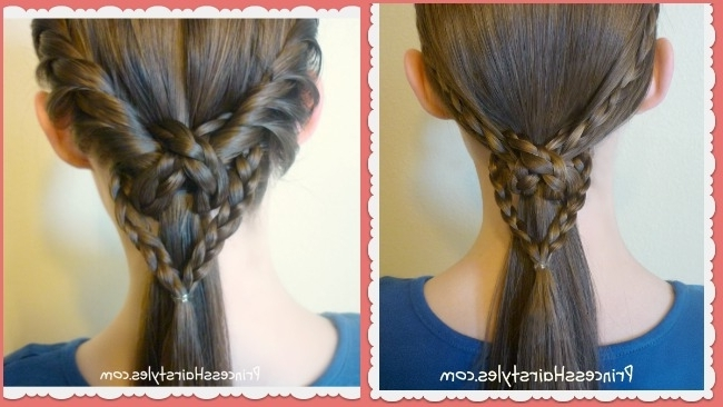 2 Easy Heart Knot Ponytails, Valentine's Day Hairstyles – Hairstyles Regarding Princess Ponytail Hairstyles (View 13 of 25)