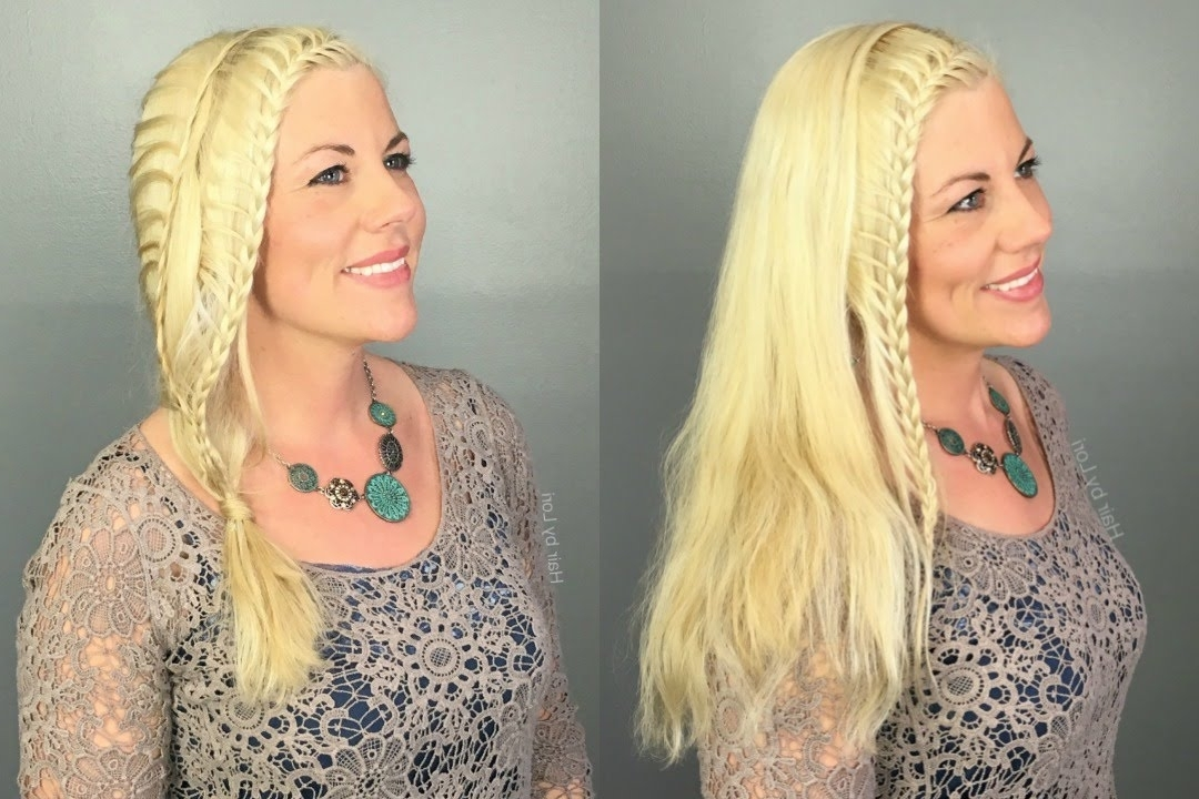 2 Lace Braid Boho Hairstyles – Accent Braid & Unique Ponytail – Youtube With Pony Hairstyles With Accent Braids (View 15 of 25)